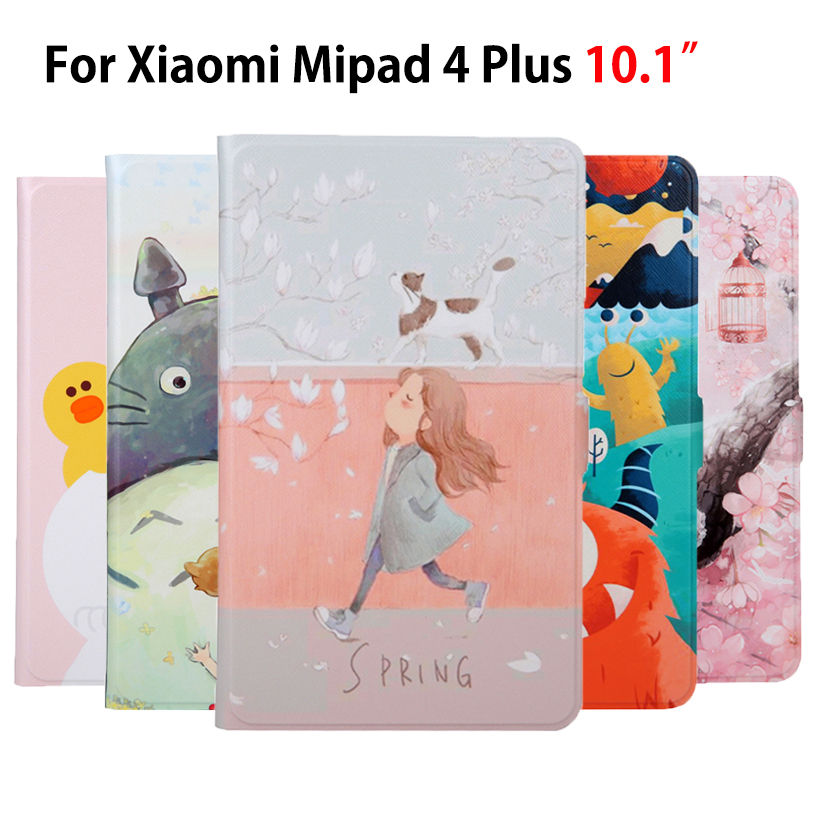 Slim PU Leather Case For Xiaomi Mipad <font><b>4</b></font> Plus Mi Pad <font><b>4</b></font> plus <font><b>10.1</b></font>