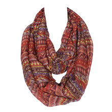 hot deal buy classic paisley infinity women scarf diamond brown and orange ring loop shawl warm winter soft long size 180*100cm no.15108