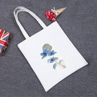 Funny Unique Printed Eco Canvas Tote Bag Women Casual Beach Bags Daily Use Shoulder Bags Shopping