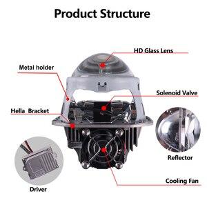 Image 2 - Sanvi 2 adet 70W 5500K araba LED far 3 inç Bi LED projektör Lens far motosiklet araba ışık güçlendirme kiti otomatik LED