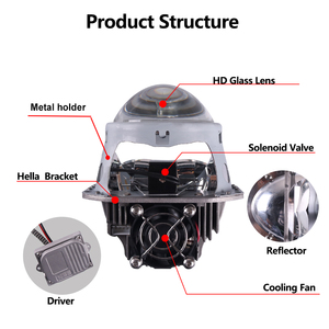 Image 2 - Sanvi phare de voiture à LED, 2 pièces, 70W, 5500K, phare LED, 3 pouces, kit de rénovation, Bi projecteur LED