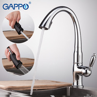 GAPPO Kitchen Faucets pull out kitchen faucet mixer brass Kitchen water taps mixers sink faucets tap mixer