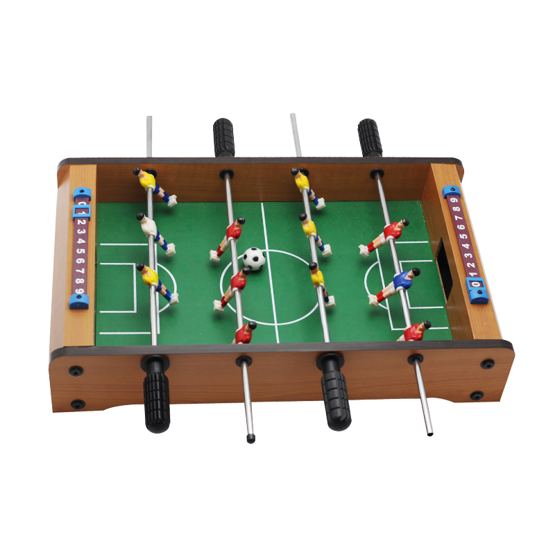 14 Inch Soccer Table Football Board Game Kids Toy Family Party Games Wood Toy Portable Travel Tabletop Football Set 34.5*23*7cm image