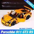 2704 UNIDS LEPIN 20001 serie técnica 911 GT3 RS Kits de Edificio Modelo Bloques Ladrillos Compatible Con 42056 regalo del muchacho