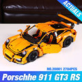 2704PCS LEPIN 20001 technic series 911 GT3 RS Model Building Kits  Blocks Bricks Compatible With 42056 boy gift