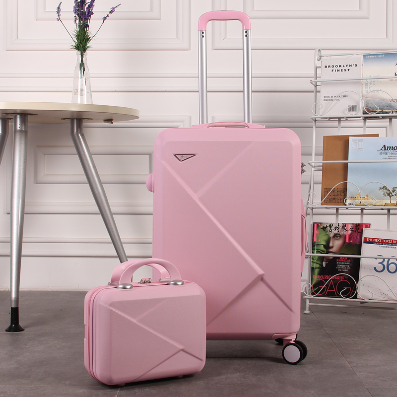 2PCS/ SET Cute 14 Inch Cosmetic Kit Hello Kitty 20 Inch 24 Inch Female Student Trolley Case Travel suitca Ms. Scrolling Suitcase