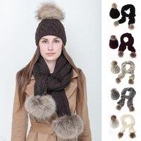 Mujeres lana sombrero bufanda sombrero juego 8 palabra sombrero bufanda kit otoño e invierno nuevo de alta calidad suave y cómodo venta caliente de la manera