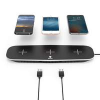 Wireless Charger for iPhone X XS Max 10W Fast Wireless Chargers for Apple Watch Qi Charging Pad for Samsung S9 S8 Station