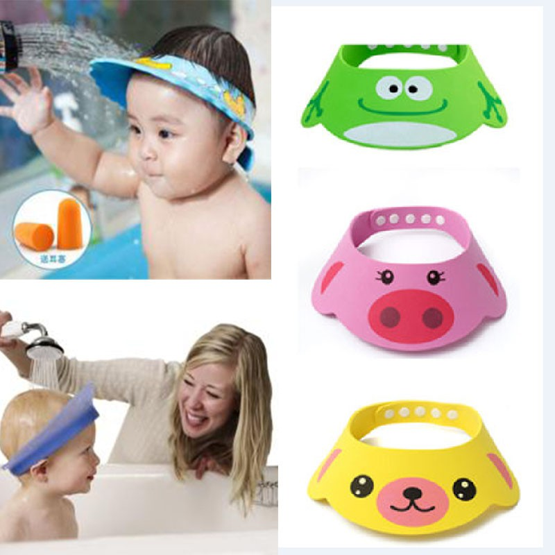 Toddler Kids cute Wash Hair Shield Direct Visor Caps Shampoo Bathing Shower Cap For Children Baby Care Sweet Lovely Baby Hats