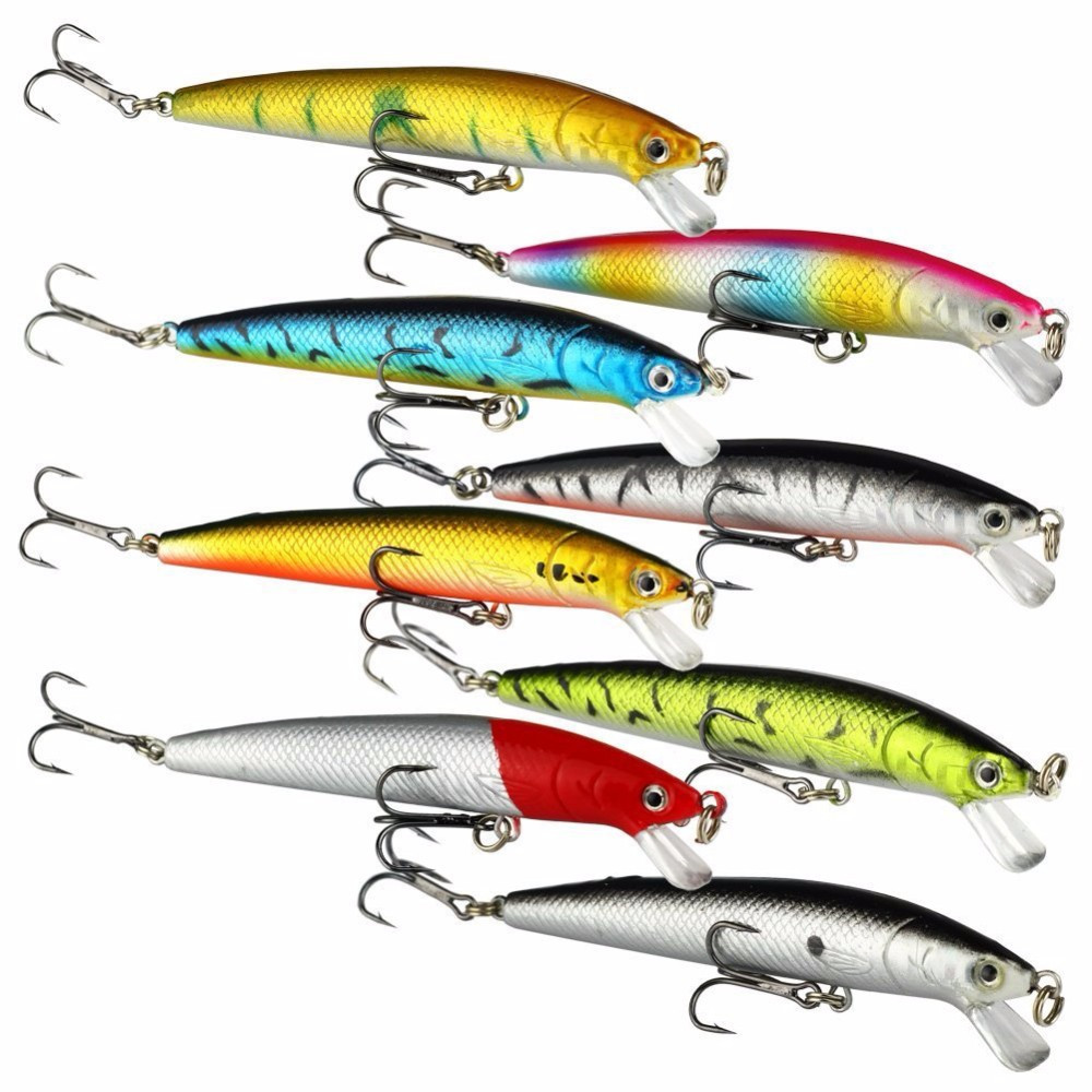 Best 10 pcs lot 10cm artificial minnow hard fishing for Trout fishing lures
