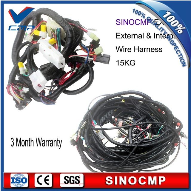 Ex200 2 Complete Internal And External Wiring Harness, Wire Cable