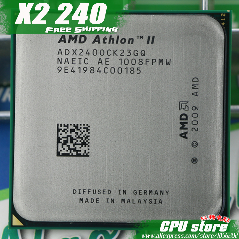 Процессор amd athlon ii x2 240 Процессор процессор (2.8 ГГц/2 м/2000 ГГц) socket AM3 AM2 + бесплатная доставка 938 pin, есть, Продаем X2 245 Процессор