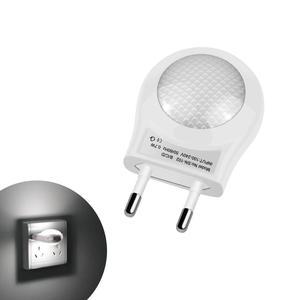 Image 1 - LED Night Light Mini Cute LED Socket Lamp Sensor Control 110V 220V EU Plug Energy Saving Lamp For Baby Kid Bedroom home Lighting