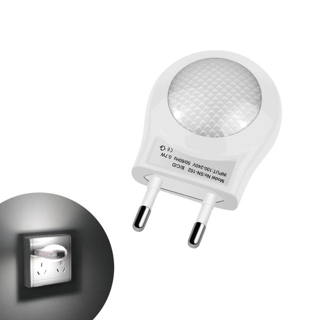 LED Night Light Mini Cute LED Socket Lamp Sensor Control 110V 220V EU Plug Energy Saving Lamp For Baby Kid Bedroom home Lighting