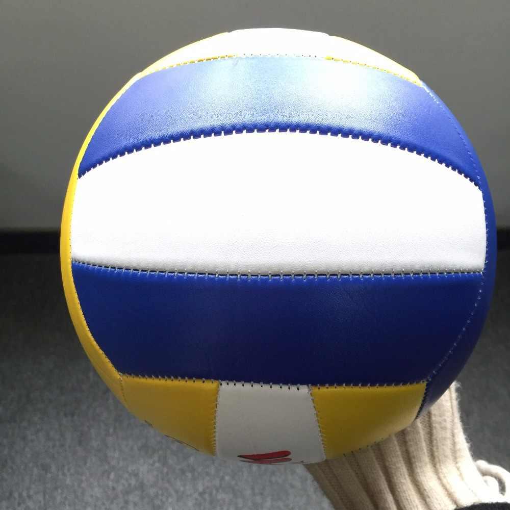 Oficjalnym rozmiarze 5 PU materiał ze skóry piłka do siatkówki plaży piłka ręczna Volei do wewnątrz na zewnątrz szkolenia miękkie mecz Sport siatkówki