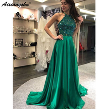 3d858c49e67fa Buy green halter prom dress and get free shipping on AliExpress.com