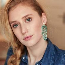 2019 Fashion Palm Leaf Acrylic Earrings Minimalist Bohemian Resin Dangle Statement Earring For Women Wedding Gifts 10pieces/Lot