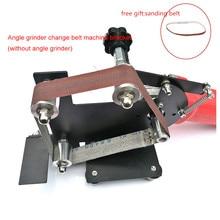 купить Electric Angle Grinder Belt Sander Metal Wood Sanding Belt M10/M14 Adapter for Grinder Metal Polishing Woodworking Tools по цене 2942.86 рублей