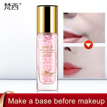 24K Gold Foil Pearl Essence Natural Ingredients Makeup Primer Gel Makeup Long-lasting Brighten Skin Invisible pores Firming 30ml Primer