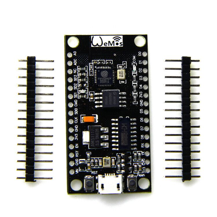 NodeMCU V3 Lua WIFI module integration of ESP8266 + extra memory 4 bytes (Mt 32 bit)  flash, USB-serial CH340G