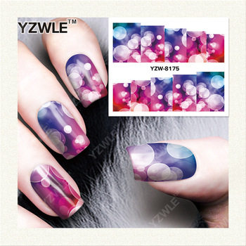 YZWLE 1 Sheet DIY Decals Nails Art Water Transfer Printing Stickers Accessories For Manicure Salon YZW-8175