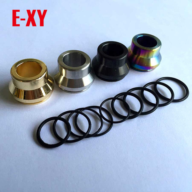 E-XY Vape drip tips Shooting Vape 316 Stainless Steel Summit drip tip ss black Copper brass Colors fit 22mm RDA atomizers