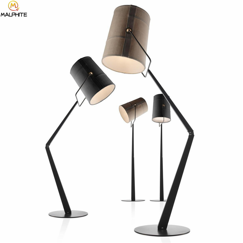 Modern Iron Stooping Lamp LED Floor Lamp for Living Room Rotatable Bedroom Standing Lamp Lustre Lighting Luminaire Stand Lamp in Floor Lamps from Lights Lighting