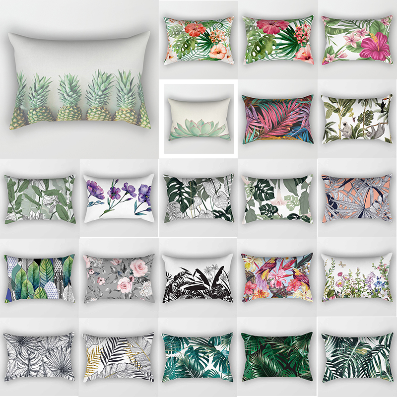 Tropical pineapple beauty flowers plants bed <font><b>pillow</b></font> <font><b>case</b></font> travel bedroom <font><b>pillow</b></font> cover rectangle <font><b>pillow</b></font> <font><b>cases</b></font> <font><b>30*50</b></font> cm image