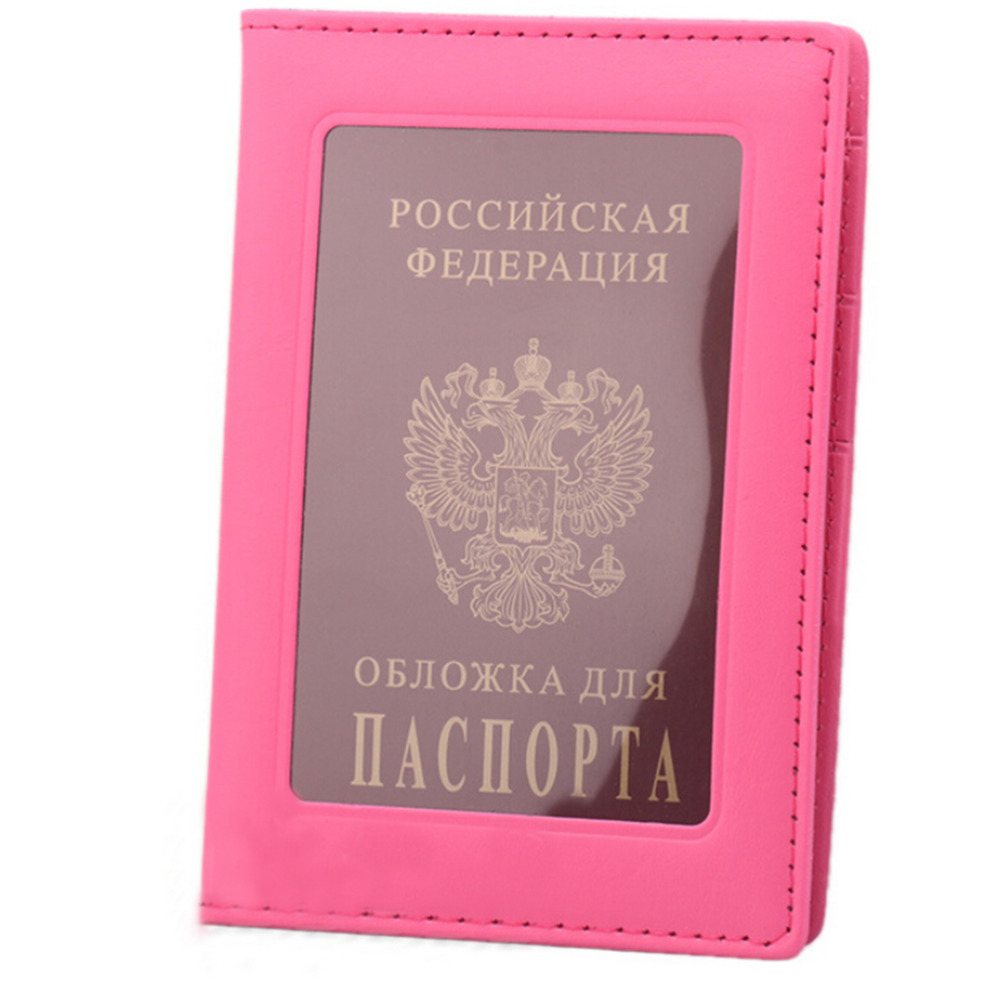 Desk Accessories & Organizer Office & School Supplies Peerless 9 Colors Pu Leather Transparent Russia Passport Cover Clear Card Id Holder Note Holder Travelling Passport Bags