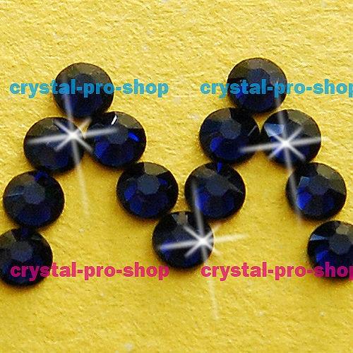 GENUINE Swarovski Elements ss16 Dark Indigo ( 288 ) 288 pcs Iron on 16ss Hot -fix Flatback Round Glass Crystal Hotfix rhinestones 686b746a6e5d