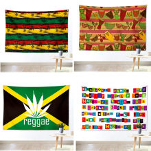 Jamaican Reggae Music beatbox Rock Poster flag Banners Hanging Pictures Art Waterproof Cloth Music Festival Banquet Party Decor(China)