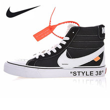 "Nike OFF-WHITE X Old Skool Collection ""OW"" Men's Black and White Sport Skateboarding Shoes VN000D5IB8C"