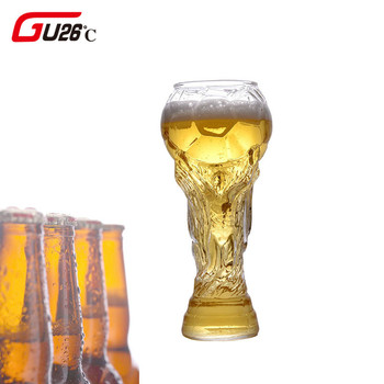 450ML Creative Football Shape Glass Beer Steins Crystal Glass Whiskey Drink Ware Bar Beer Cup 2018 New design