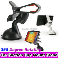 Universal Windshield 360 Degree Rotating Car Suction Cup Mount Stand Bracket Holder Clip For iPhone Samsung HTC GPS PDA