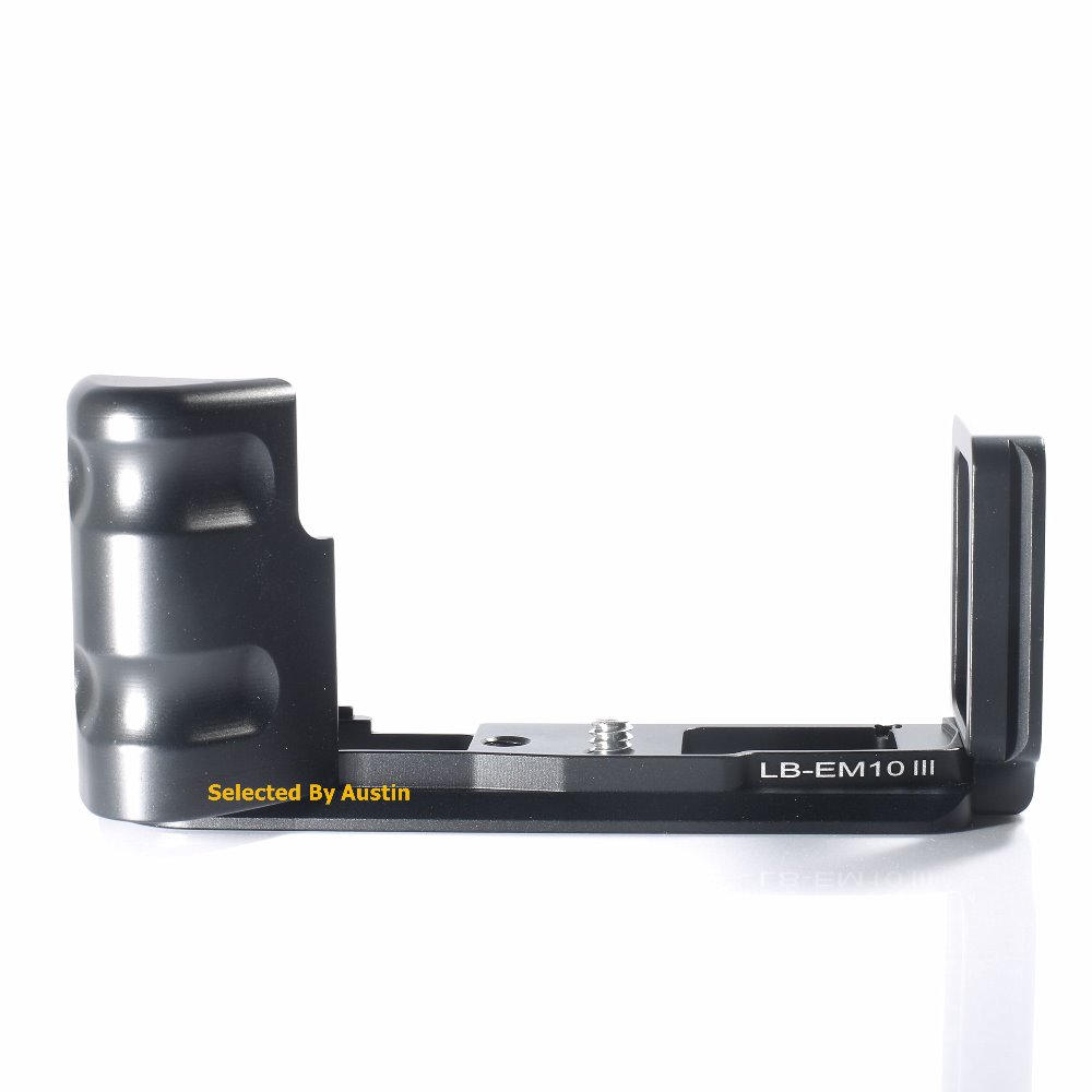 Quick Release L Plate Bracket with Hand Grip For Olympus OM D EM10 Mark III E