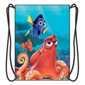 Finding Dory Drawstring Backpack Boy School Bags Movies Cartoon Fans Shoes Bag With 2 String
