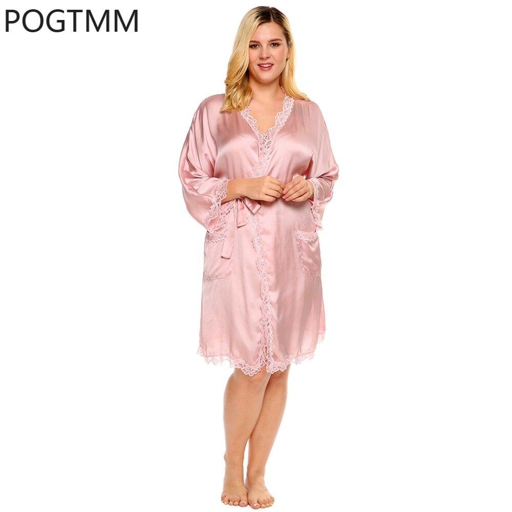 Bademäntel Für Brautjungfern Satin Robe Long Sleeve Belted Sleepwear ...