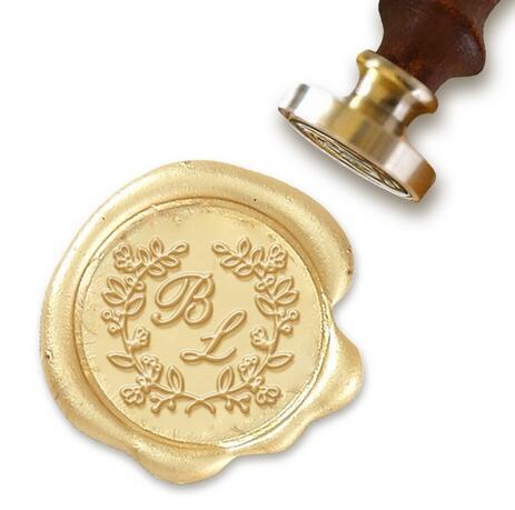 Spersonalizowane Monogram 2 Initial Niestandardowe Seal Wax Stamp 1
