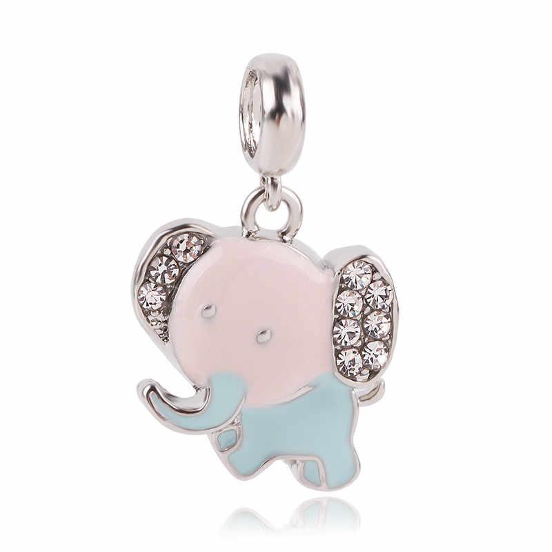Ranqin Fashion New Gift Original DIY Bead fit Pandora Charm Bracelet Women Pendant Necklace Snow White Elegant Mom Rabbit