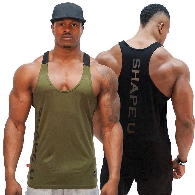 ZOGAA Muscle Guys Cotton Gyms Tank Tops Men Sleeveless Tanktops for Boys Bodybuilding Clothing Undershirt Fitness Stringer Vest in Tank Tops from Men 39 s Clothing