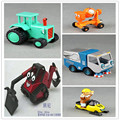5pcs/lot--LEARNING CURVE Toys Bob The Builder metal  metal Truck  Construction Vehicles Models for Children Christmas Gifts