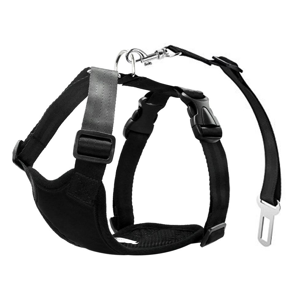Nylon Dog Car Seat Belt Mesh Pet Dogs Safety Car Harness Soft Padded Vest Vehicle Seatbelt Lead Leash For Medium Large 10
