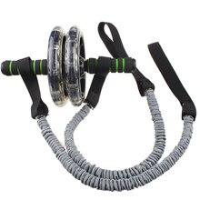 Ab Roller Wheel Pull Rope Waist Abdominal Slimming Fitness Equipment D30