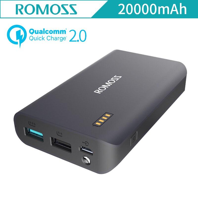 ROMOSS Sense X Two Way QC2 0 Quick Charger LED Flash Light 10000mah Power Bank Dual