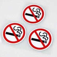 Авто-Стайлинг клей Стикеры Предупреждение логотип No Smoking автомобиля Стикеры s легко палку для bmw benz ford vw peugeot, Opel renault mazda Гольф