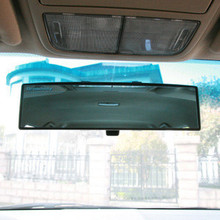 270mm Wide field of vision Car  Assisting Large Vision Anti-dazzling Blue MirrorRear View Mirror Angle Panoramic