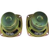 Lote de 2 altavoces de 10 W, 4R, 4 ohm, 10 W, 3 pulgadas, 77MM con altavoz lateral de espuma
