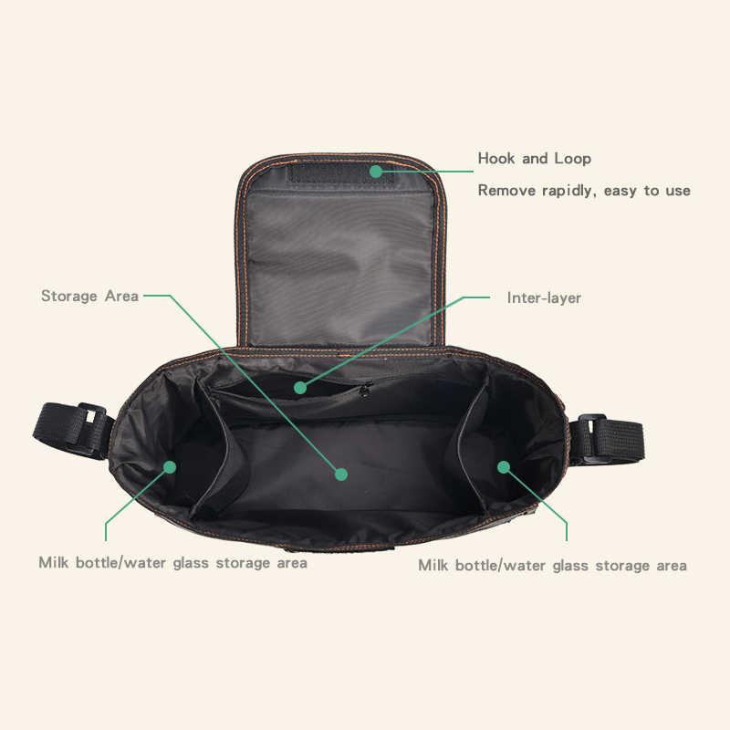 Bolsa Universal para cochecito de bebé, organizador negro para cochecito, bolsas para pañales de viaje, cochecito de bebé, cochecito, cochecito, accesorios para botella