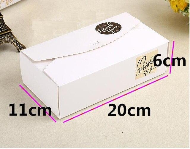 20 11 6cm Large White Wedding Favor Box Kraft Paper Packaging Food Storage