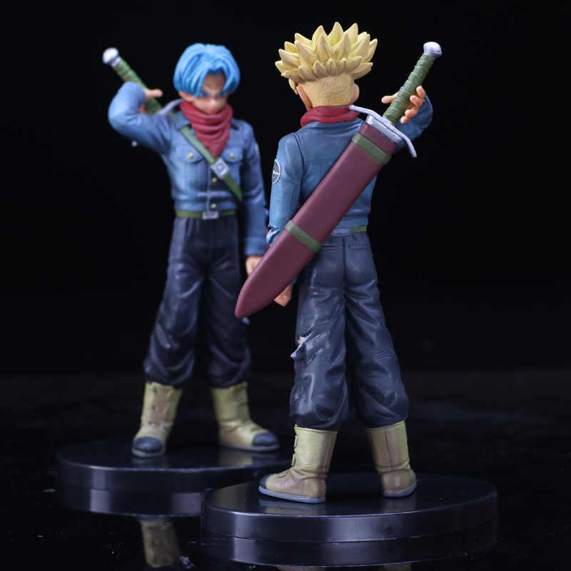 Troncos De Dragon Ball Z Levando Espada Futuro Primeira Vinda Azul Estilo de Cabelo de Ouro Figura DBZ Goku Super Saiyan Figura de Ação 19